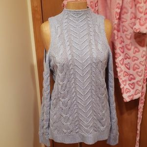 New york and company cold shoulder sweater